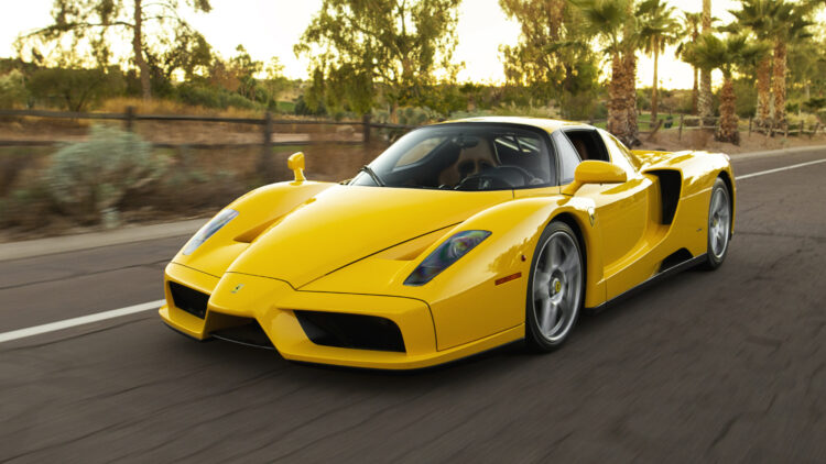 Fron Yellow 2003 Ferrari Enzo on offer at RM Sotheby's Scottsdale Arizona Sale 2021