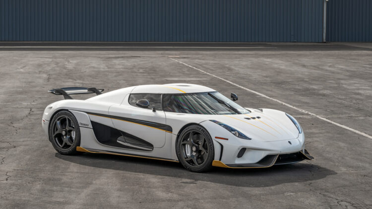 2019 Koenigsegg Regera on offer at RM Sotheby's Scottsdale Arizona classic car auction 2021