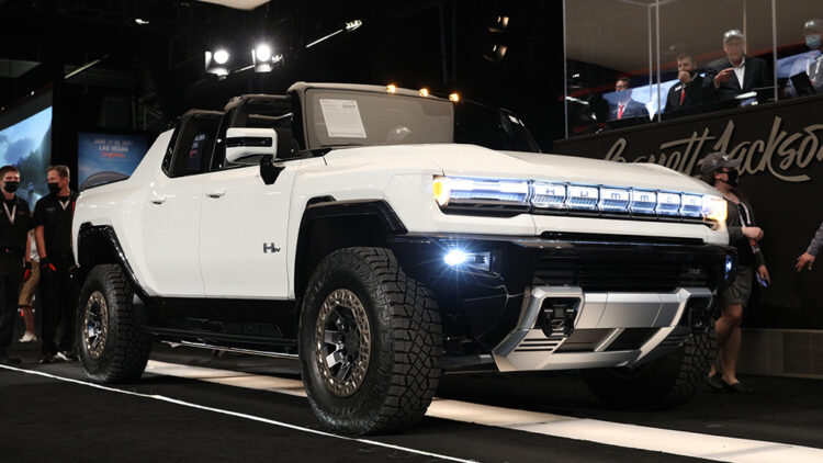 Two VIN001 cars -- 2022 GMC Hummer EV Edition 1 and 2021 Ford Bronco 2-Door -- were the top charity sale results at the Barrett-Jackson Scottsdale auction sale 2021