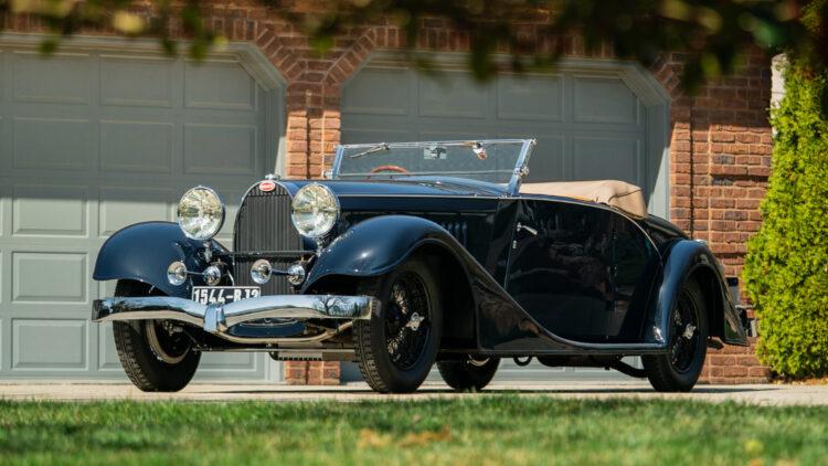 1934 Bugatti Type 57 Cabriolet on offer in the Bonhams Amelia Island 2021 classic car auction