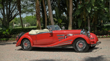 1934 Mercedes-Benz 500/540K Spezial Roadster on offer in the Bonhams Amelia Island 2021 classic car auction