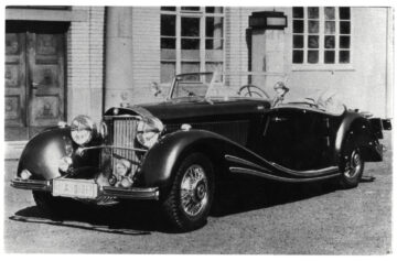 1934 Mercedes-Benz 500/540K Spezial Roadster period photo on offer in the Bonhams Amelia Island 2021 classic car auction