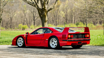 1992 Ferrari F40 on offer in RM Sotheby's Amelia Island 2021 classic car auction