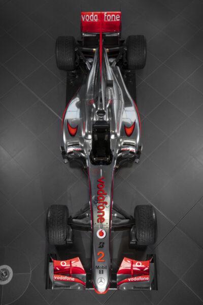 2010 McLaren Mercedes MP4-25A Formula 1® Race Car from above