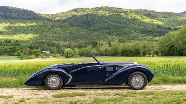 1939 Bugatti Type 57 C 'Aravis' Cabriolet on sale at the Bonhams Bonmont 2021 classic car auction
