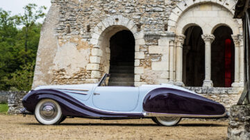 A concours-standard 1948 Talbot-Lago T26 Record Sport Cabriolet Décapotable (estimate on request) is the early lead car announced for the Bonhams Quail Lodge 2021 sale.