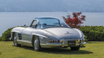A 1957 Mercedes-Benz 300 SL with an interesting provenance and a unique plexiglass hardtop created by Count Agusta