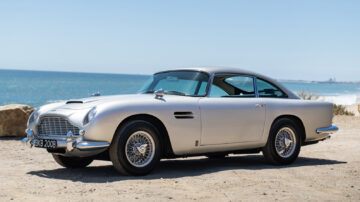 1964 Aston Martin DB5 on sale in the Gooding Pebble Beach 2021 classic car auction during Monterey Motoring Week