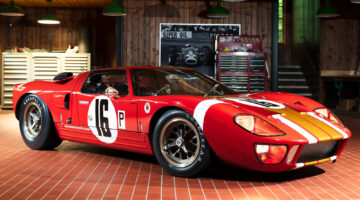 Gooding announced a 1966 Ford GT40 Alan Mann Lightweight for the Pebble Beach 2021 classic car auction during Monterey motoring week.
