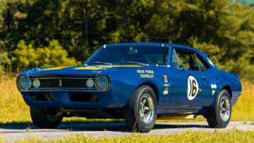 1967 Chevrolet Camaro Z/28 Trans Am on sale at the Gooding Pebble Beach 2021 classic car auction
