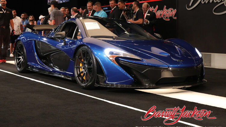 DJ deadmau5's 2015 McLaren P1 top results at Barrett-Jackson Las Vegas 2021 sale