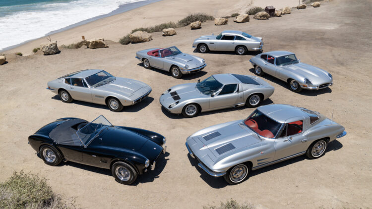Neil Peart's Silver Surfers Collection on sale in the Gooding Pebble Beach 2021 classic car auction during Monterey Motoring Week