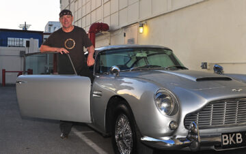 Neil Peart with his 1964 Aston Martin DB5
