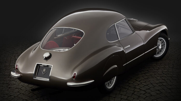 1953 Fiat 8V from above on sale in RM Sotheby's St Moritz Switzerland auction 2021
