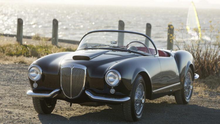 1955 Lancia Aurelia B24S Spider America on sale at Bonhams Quail Lodge 2021 auction during Monterey / Pebble Beach car week