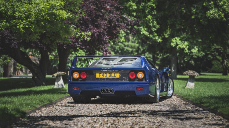 A blue 1989 Ferrari F40 sold for £1,000,500 in a Bonhams The Market sale -- a record price in an online-only auction in Europe and the UK.