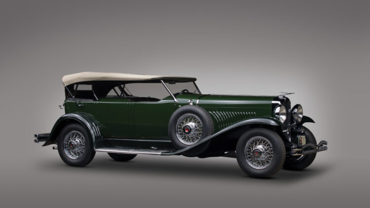 1929 Duesenberg Model J Dual-Cowl Phaeton from the Andrews Collection on sale at RM Sotheby's Monterey 2021 auction