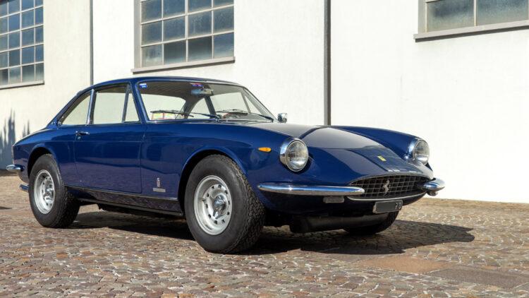 Blue 1969 Ferrari 365 GTC on sale at Bonhams The Zoute Sale 2021 classic car auction in Belgium