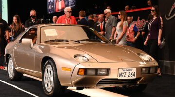 """The 1979 Porsche 928 """"Risky Business"""" Movie Car sold for a model record $1,980,000 to top the results at the Barrett-Jackson Houston 2021 sale."""