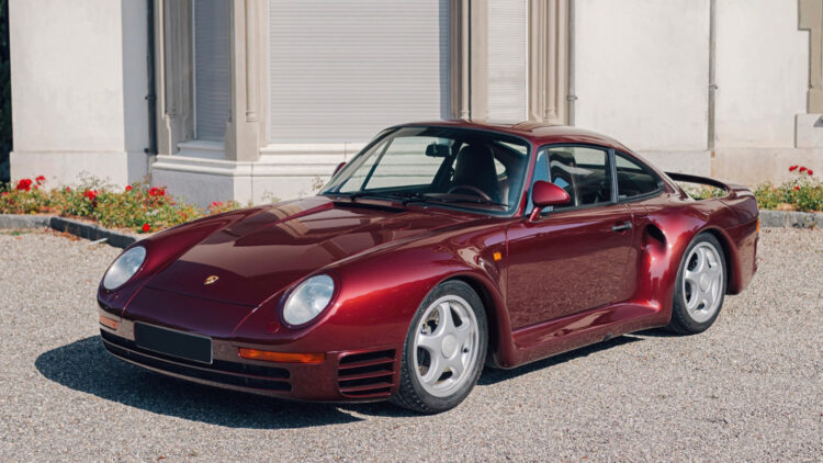 Red 1988 Porsche 959 Komfort