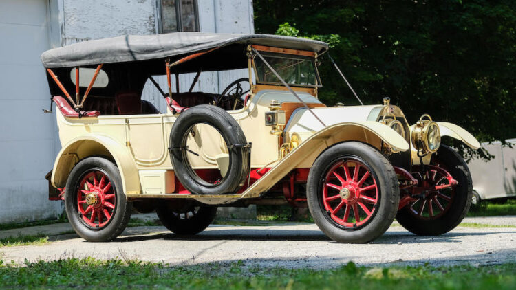 1913 Alco Five-Passenger Touring Car, among the top results at the Bonhams Audrain Concours Sale 2021 auction in Newport Rhode Island