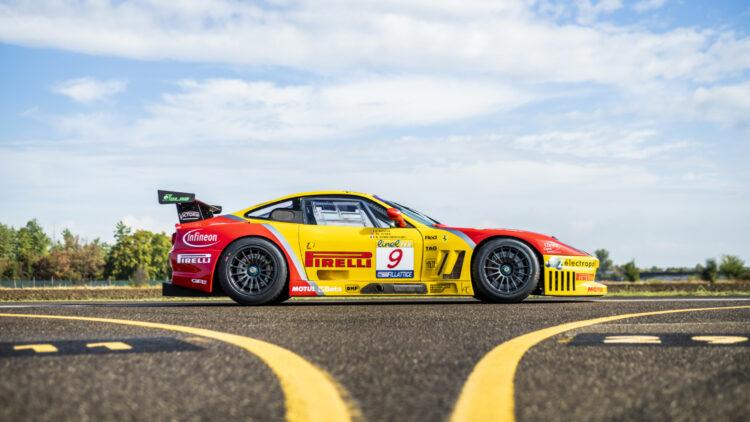 2003 Ferrari 550 GTC side profile